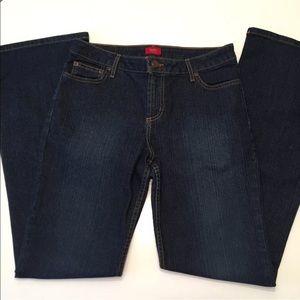 Mossimo Stretch Women's Boot Cut Dark Wash Jeans 9